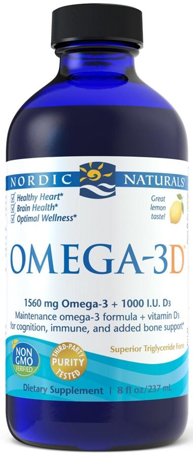 Omega-3D, 1560mg Lemon - 237 ml. versandkostenfrei/portofrei bestellen/kaufen