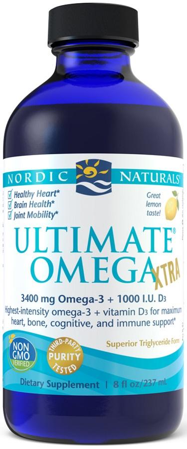 Ultimate Omega Xtra, 3400mg Lemon - 237 ml. versandkostenfrei/portofrei bestellen/kaufen