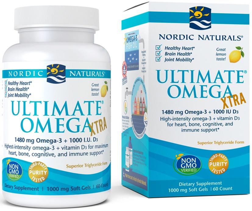 Ultimate Omega Xtra, 1480mg Lemon - 60 softgels versandkostenfrei/portofrei bestellen/kaufen