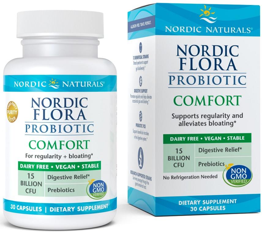 Nordic Flora Probiotic Comfort, 15 billion CFU - 30 caps versandkostenfrei/portofrei bestellen/kaufen