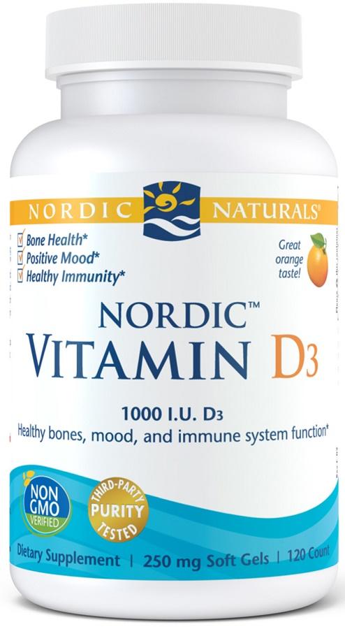Nordic Vitamin D3, 1000 IU - 120 softgels versandkostenfrei/portofrei bestellen/kaufen