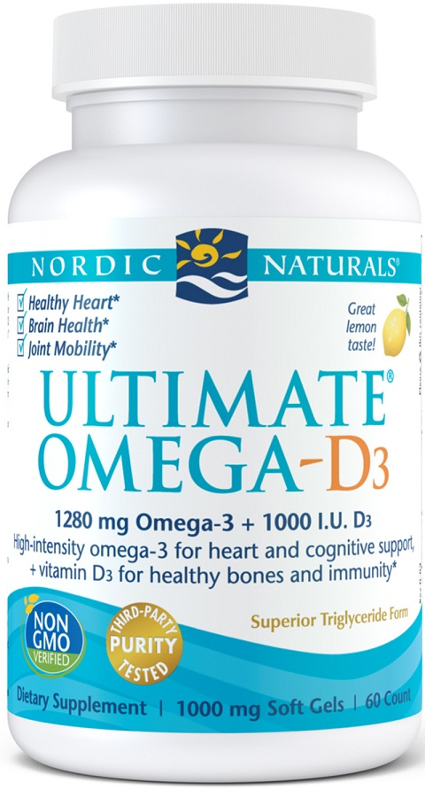 Ultimate Omega-D3, 1280mg Lemon - 60 solfgels versandkostenfrei/portofrei bestellen/kaufen