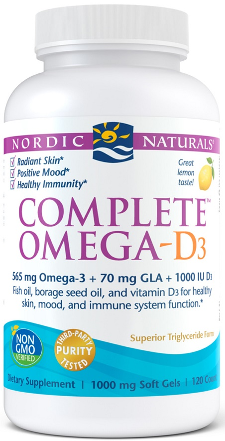 Complete Omega-D3, 565mg Lemon - 120 softgels versandkostenfrei/portofrei bestellen/kaufen