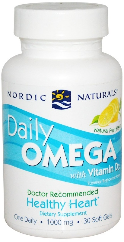 Daily Omega with Vitamin D3, Natural Fruit - 30 softgels versandkostenfrei/portofrei bestellen/kaufen