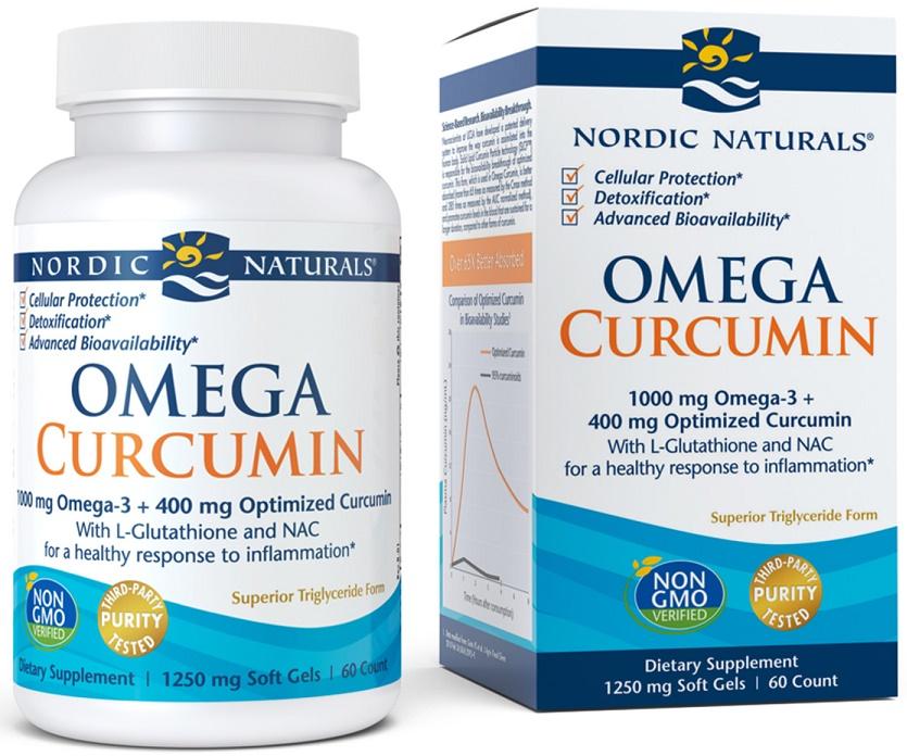 Omega Curcumin, 1000mg - 60 softgels versandkostenfrei/portofrei bestellen/kaufen