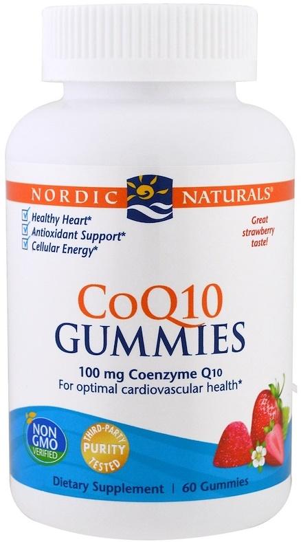 CoQ10 Gummies, 100mg Strawberry - 60 gummies versandkostenfrei/portofrei bestellen/kaufen