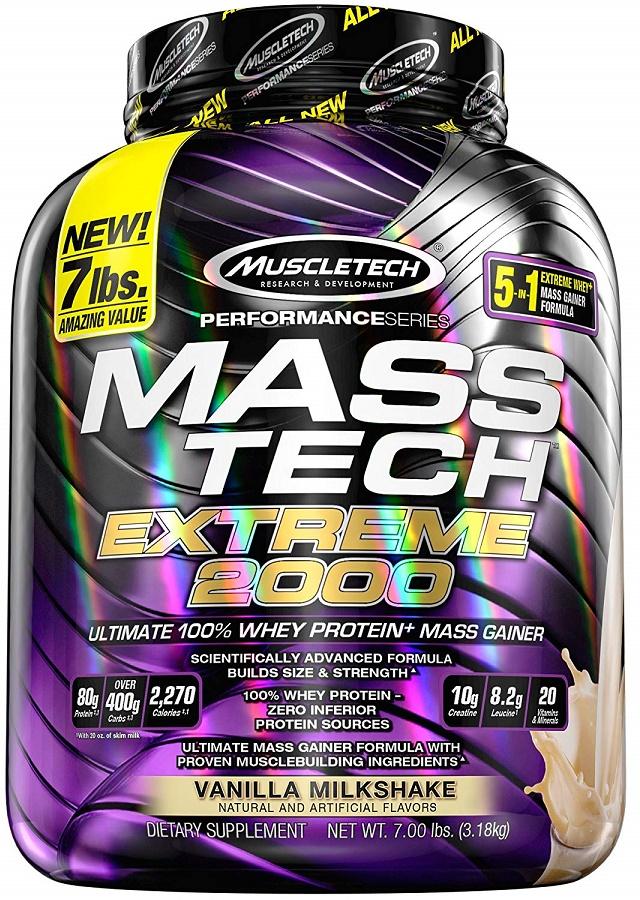 Mass-Tech Extreme 2000, Vanilla Milkshake - 3180g versandkostenfrei/portofrei bestellen/kaufen