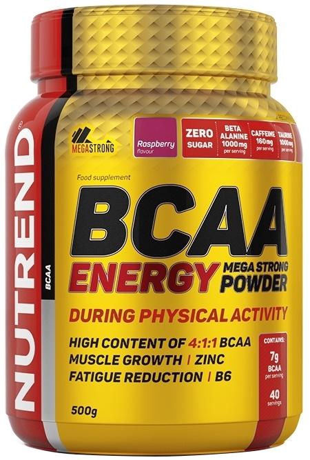 BCAA Energy Mega Strong Powder, Raspberry - 500g versandkostenfrei/portofrei bestellen/kaufen