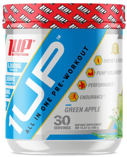 1Up For Men Pre-Workout INT, Green Apple - 450g versandkostenfrei/portofrei bestellen/kaufen