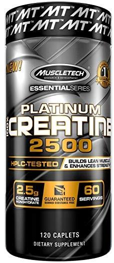 Platinum 100% Creatine 2500 - 120 caplets versandkostenfrei/portofrei bestellen/kaufen