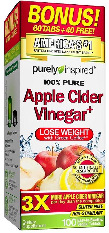 100% Pure Apple Cider Vinegar+ - 100 veggie tabs versandkostenfrei/portofrei bestellen/kaufen