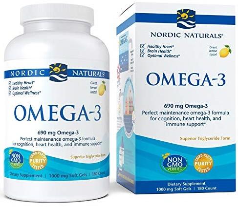 Omega-3, 690mg Lemon - 180 softgels versandkostenfrei/portofrei bestellen/kaufen