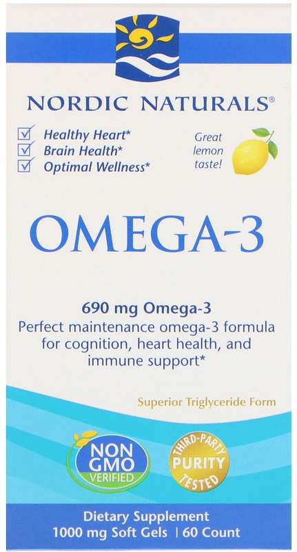 Omega-3, 690mg Lemon - 60 softgels versandkostenfrei/portofrei bestellen/kaufen