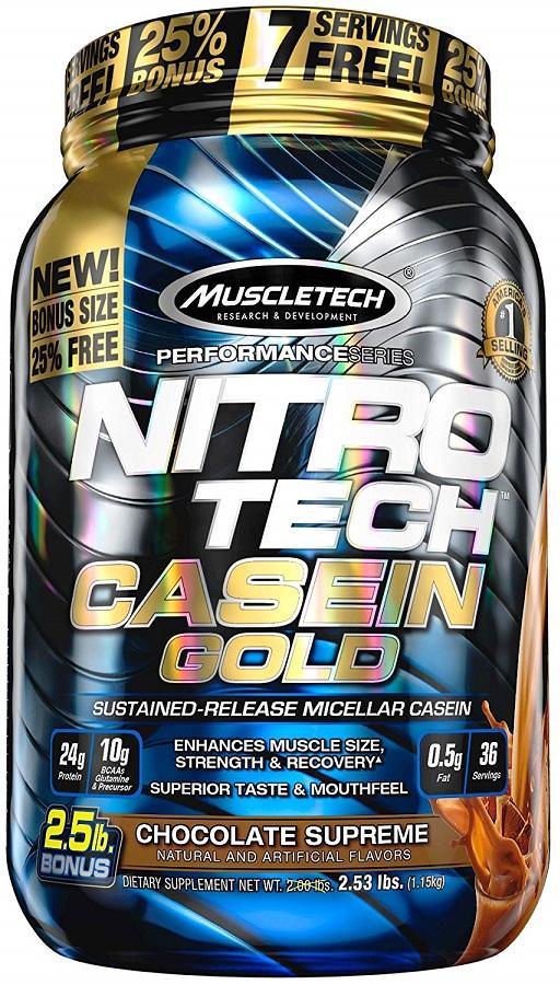 Nitro-Tech Casein Gold, Creamy Vanilla - 1130g versandkostenfrei/portofrei bestellen/kaufen