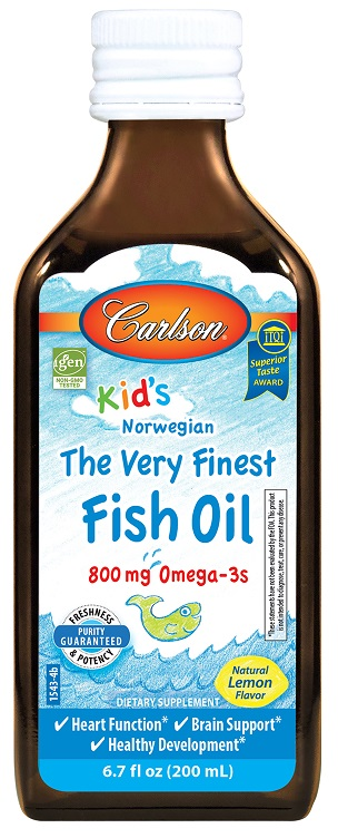 Kid's The Very Finest Fish Oil, 800mg Natural Lemon - 200 ml. versandkostenfrei/portofrei bestellen/kaufen