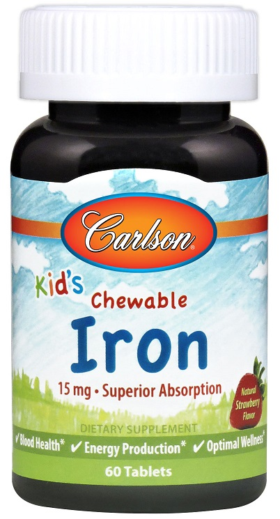 Kid's Chewable Iron, 15mg Strawberry - 60 tablets versandkostenfrei/portofrei bestellen/kaufen
