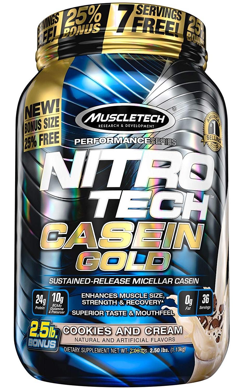 Nitro-Tech Casein Gold, Cookies & Cream - 1130g versandkostenfrei/portofrei bestellen/kaufen