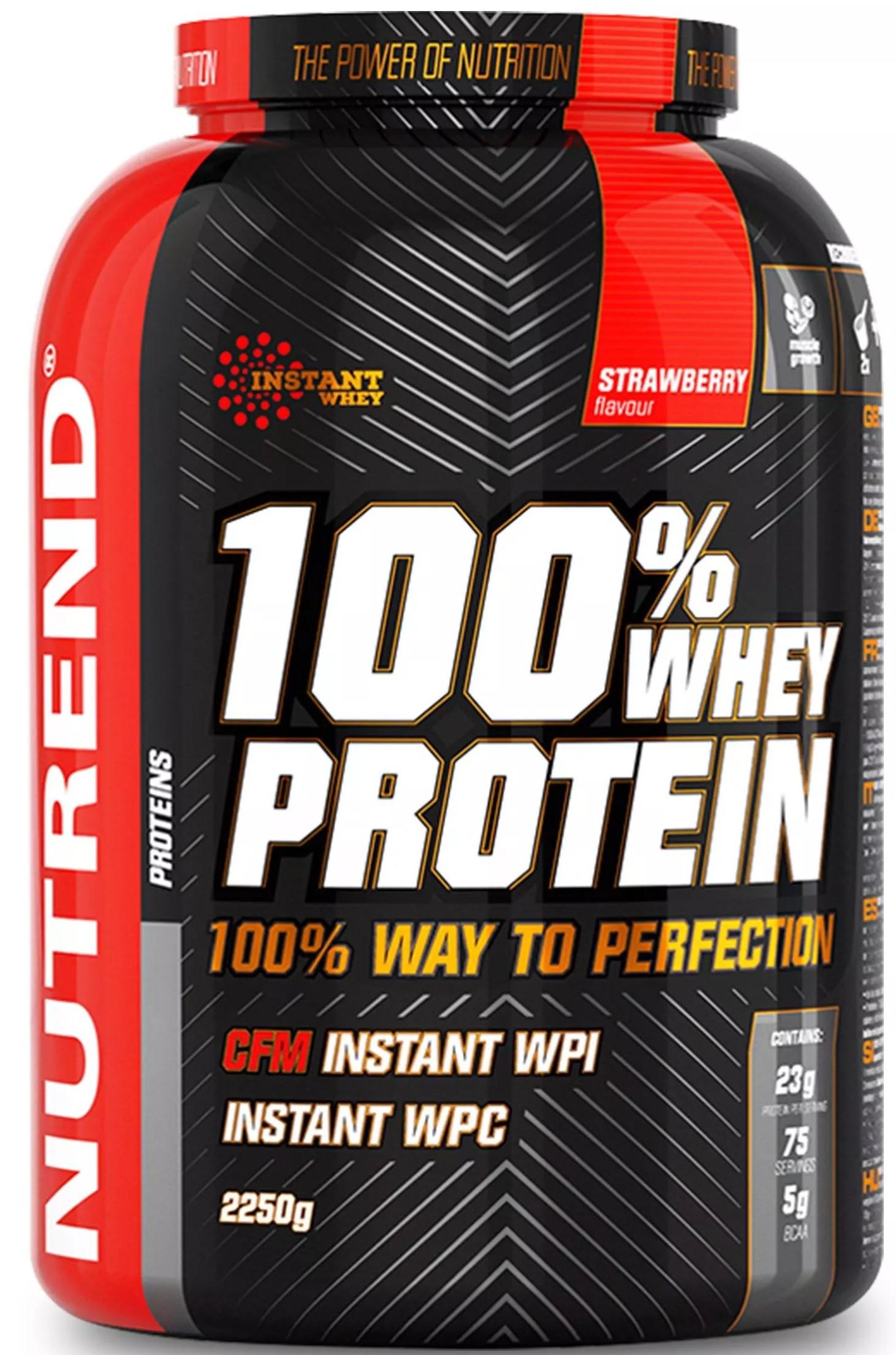 100% Whey Protein, Strawberry - 2250g versandkostenfrei/portofrei bestellen/kaufen