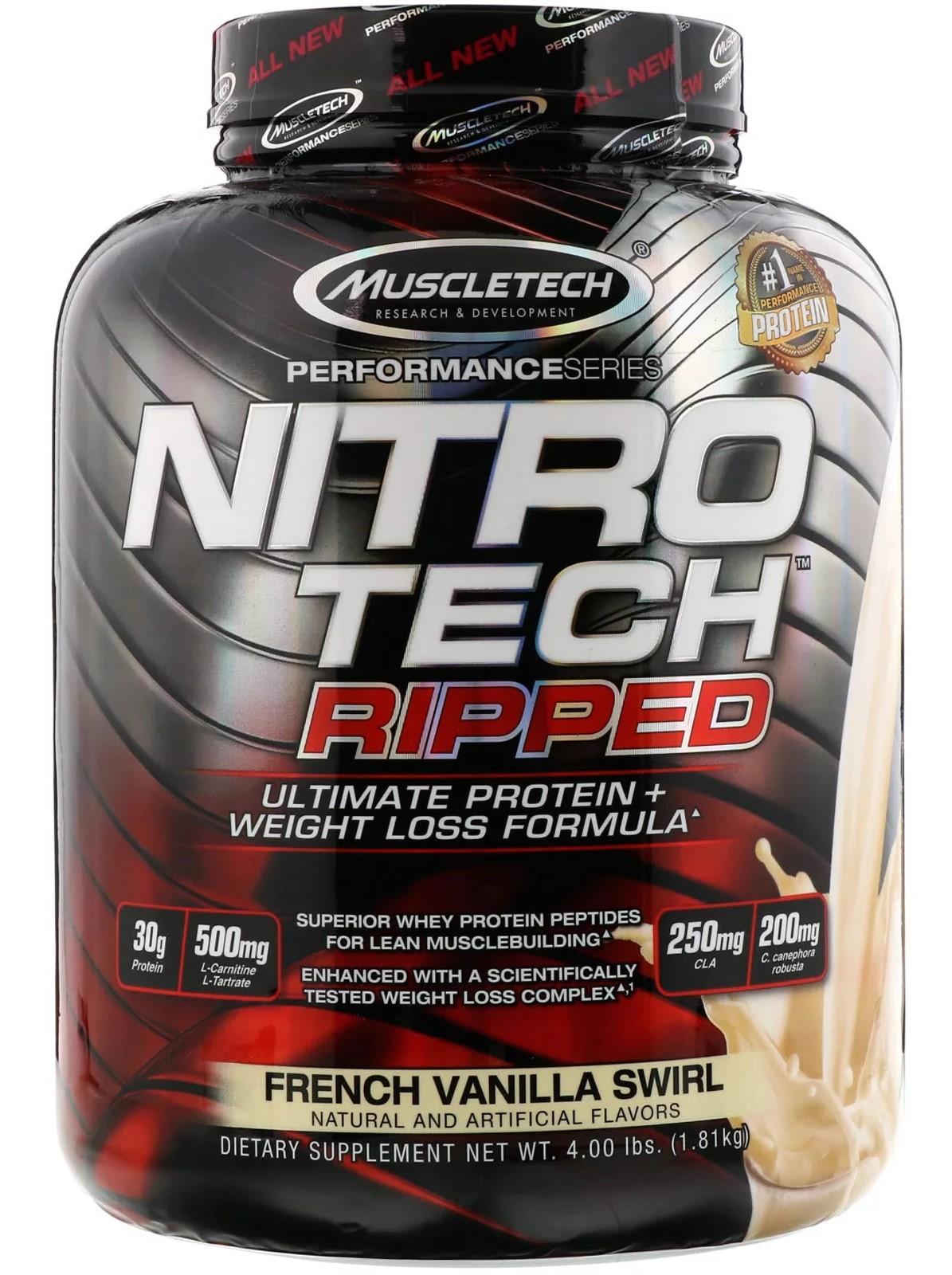 Nitro-Tech Ripped, French Vanilla Swirl - 1810g versandkostenfrei/portofrei bestellen/kaufen