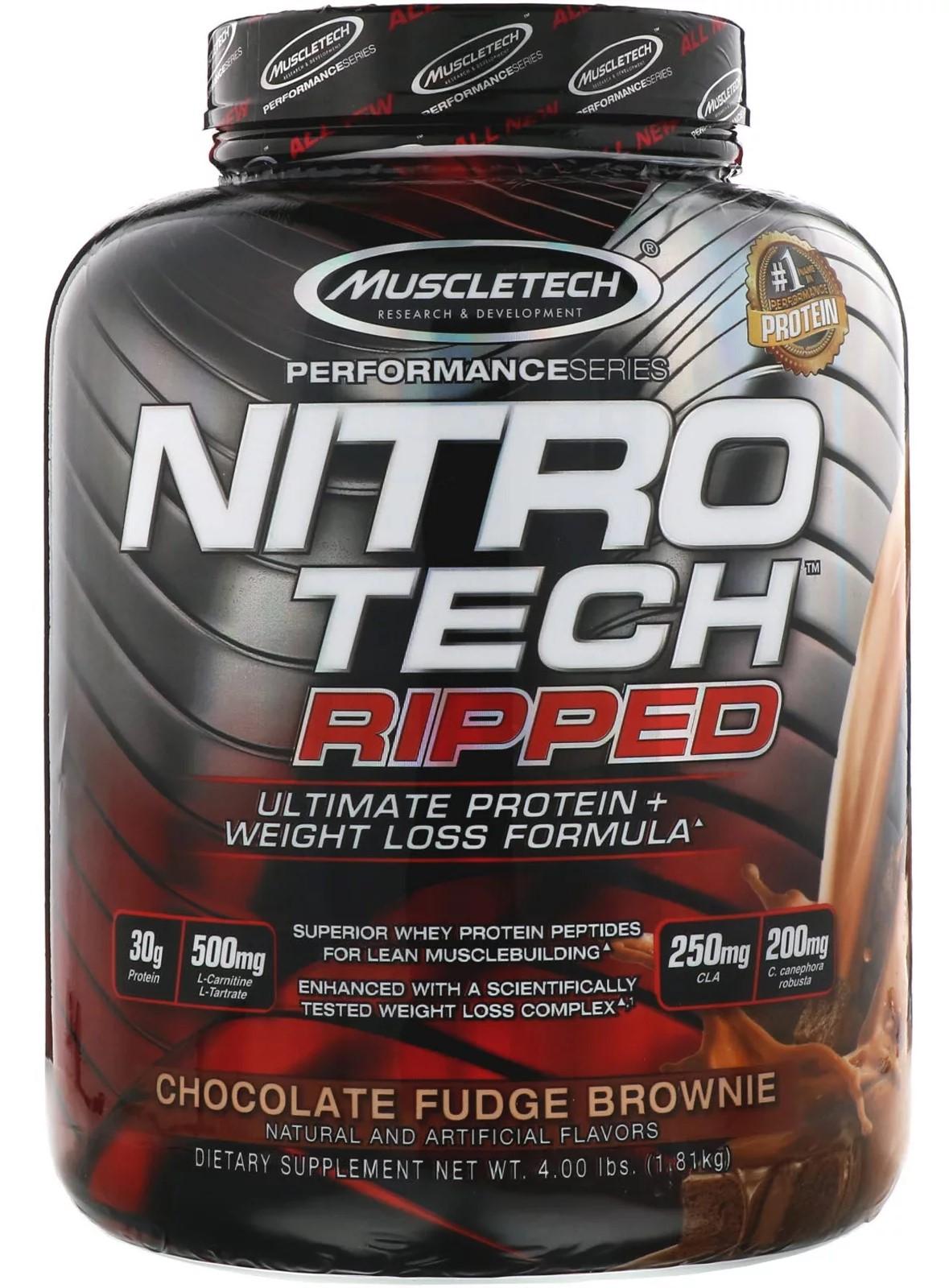 Nitro-Tech Ripped, Chocolate Fudge Brownie - 1810g versandkostenfrei/portofrei bestellen/kaufen